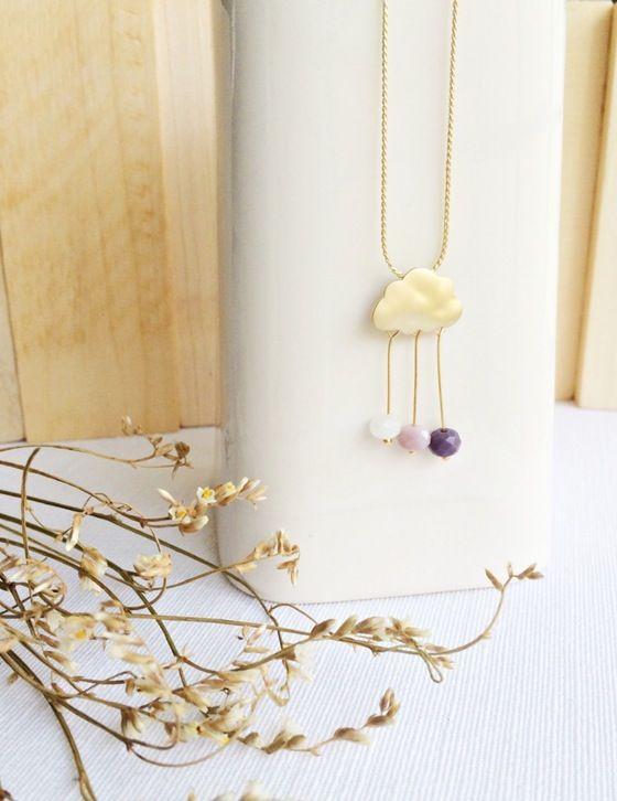 Berlin #gargantilla #pendant #cloud #jewelry #goldfilled #handmade