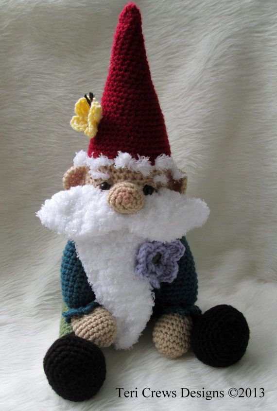 Crochet Pattern Gnome by Teri Crews Wool and von TCrewsDesigns
