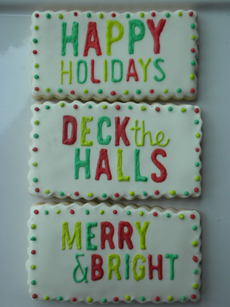 christmas cookies - merry and bright!