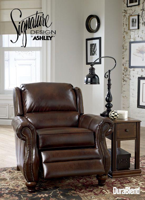 brown recliner traditional u0026 old world furniture style elberton durablend espresso low leg