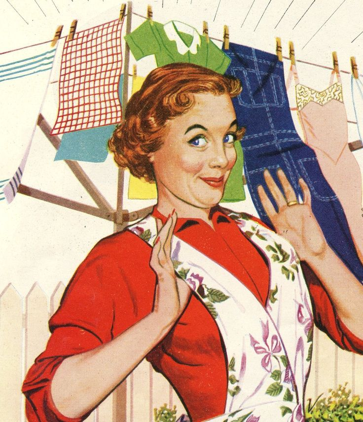 Proud housewife ib the 1950 s  Growing up in the 50s, I can honestly say my mother, nor any of the other mothers, would have been caught dead looking as goofy as the women in these ads...fun to look at though!!!