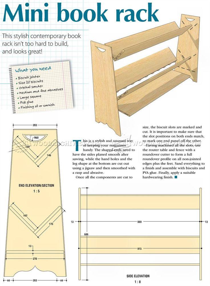 Mini Book Rack Plans - Furniture Plans and Projects  | WoodArchivist.com