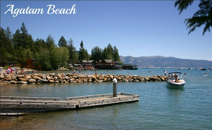 Agatam Beach is located adjacent to the National Ave. boat launch facility in the Tahoe Vista Recreation Center, recently went through a costly renovation. The beach features kayak and sailboat rentals, bungee jumping, parasailing and hang gliding outfits.