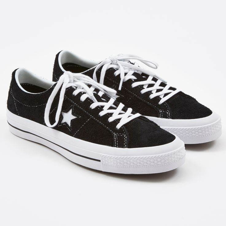 Converse One Star Hairy Suede - Black