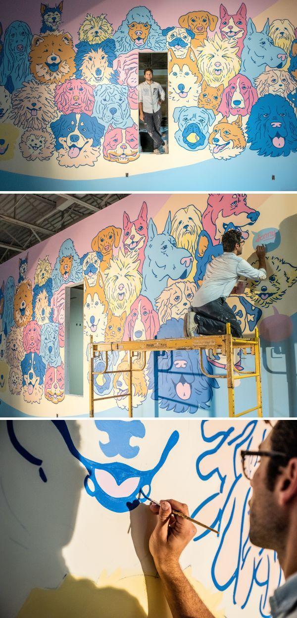 Murals Lucky Dog Austin Tx Mural Unique Wall Art Colorful Murals