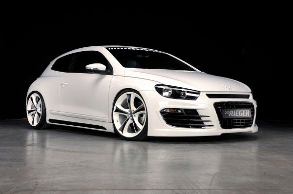 White with White Wheels Rieger VW Scirocco