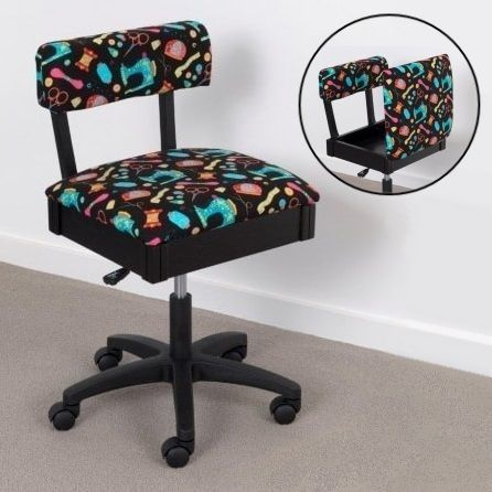 Horn Gas Lift Storage Sewing Chair - Black & Colour | Buy New Arrivals