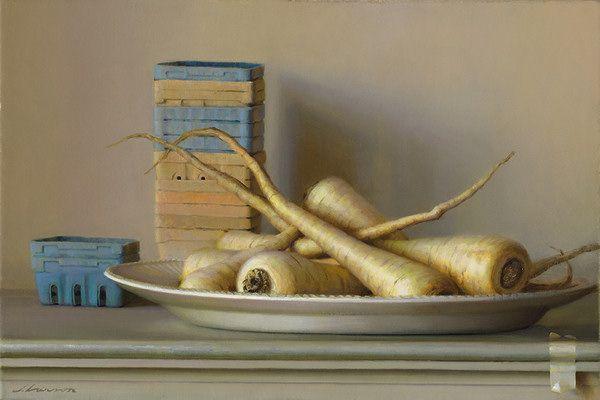 Parsnips, oil on canvas, by Jeffrey T. Larson |