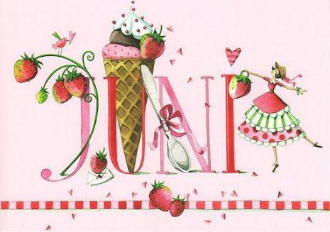 June - Calendar illustrated by Nina Chen 2012