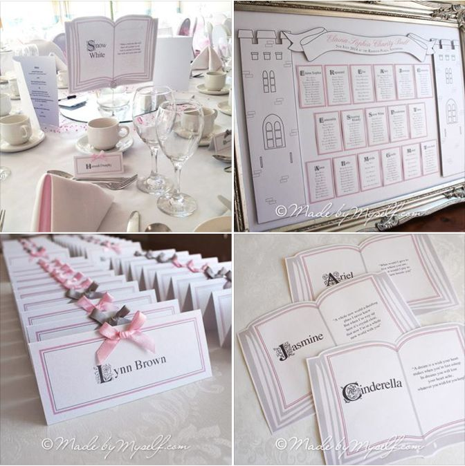Fairytale Stationery Theme Princess Table Names And 3d
