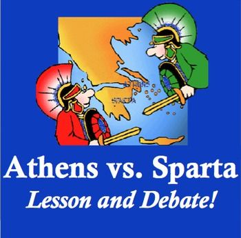 It's the battle of the Greek city-states in this fun lesson! Students complete a reading and a chart about Athens and Sparta, then are assigned city-states and guided through a structured debate activity to determine which society was more successful overall. They debate topics such as which city-state was best for women and low-class citizens, whether democracy or totalitarianism is a better governing system, and which should represent Greek greatness. Watch out - this gets competitive!