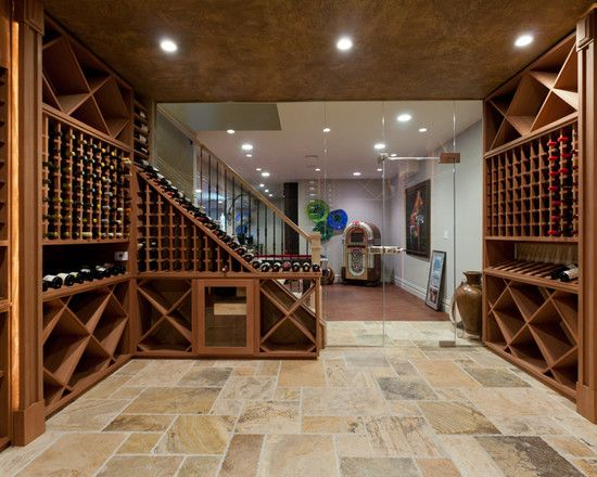 contemporary wine cellar floor tile design pictures remodel decor and ideas page. beautiful ideas. Home Design Ideas