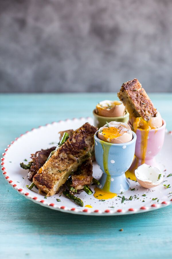 Drippy Eggs with Asparagus French Toast Grilled Cheese Soldiers   halfbakedharvest.com @hbharvest