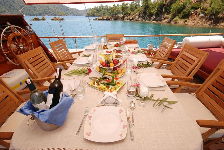 Lunch time on board