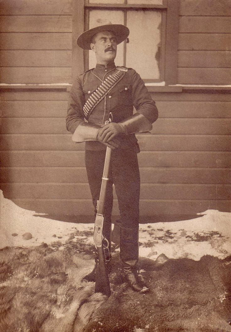 my great great grandfather posing in his North West Mounted Police uniform (C. 1910s)