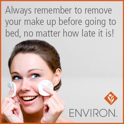 Environ Skincare Tips: Always remove your makeup before going to bed!