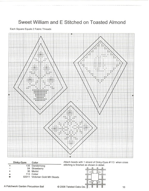 ,garden pincushion ball chart#1
