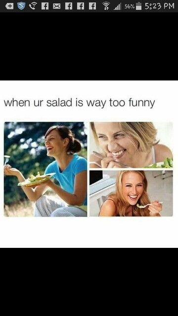 When your salad is too funny, crazy white people, lol