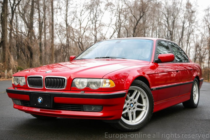 2001 BMW 740i IMOLA RED SPORT PACKAGE Rare Cars for Sale