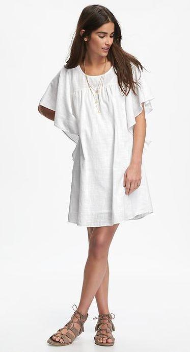 Nothin' better than an easy-breezy sheer flutter-sleeve dress. #RuffleItUp via @oldnavy