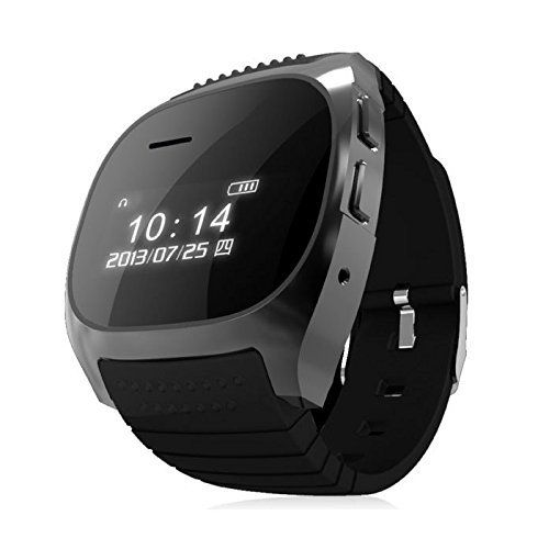 Smart Watch - SODIAL(R) R-Watch M18 LCD Bluetooth Smart Watch for Samsung Galaxy S5 S4 SV SIV. The watch will alarm you when your phone leaves you from some distance. Play music from your phone, achieve bilateral control with your phone. Hand-sfree deal calls and messages after installing ¡°R WATCH¡± APK, which is compatible with only android phones. Hands-free during driving.