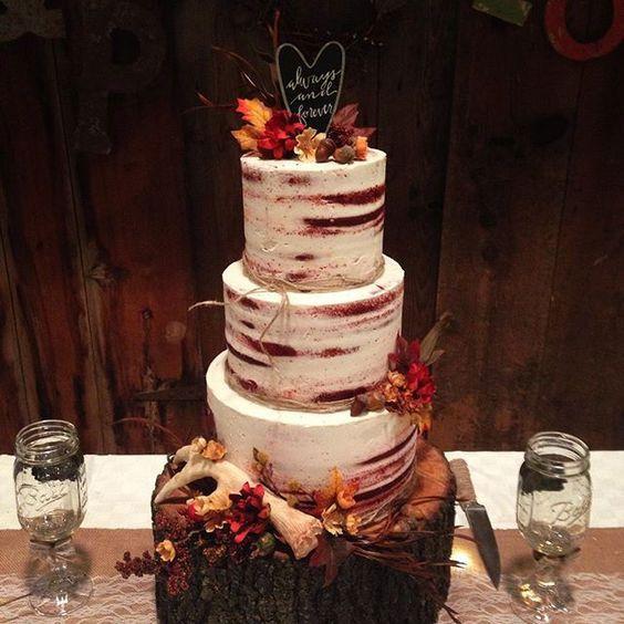 bolo para casamento de outono
