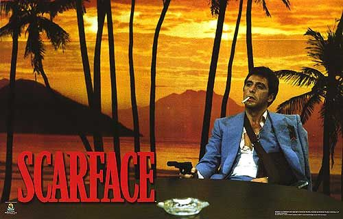 Scarface: see the background? Got it in my game room. True Fan!