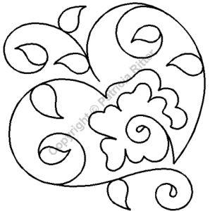 """Continuous Line Quilting Stencils > 7"""" - 8"""" Block C.L. - Item: 7"""" on QuiltingCreations.com"""