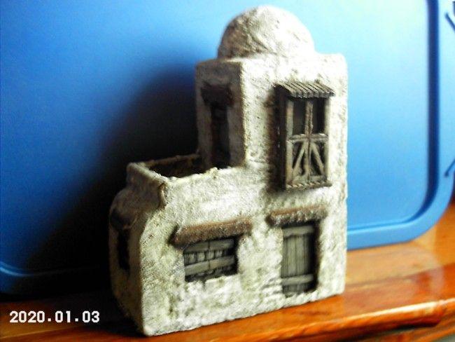 Foro de Belenismo - Paso a paso -> Casas en Lejania con material reciclado