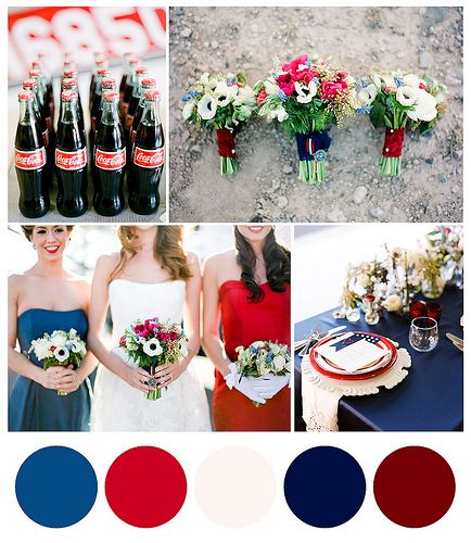 Red White And Blue Wedding Color Palette