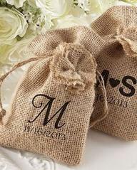 Burlap Gift Bags | Burlap Favor Bags :: Love!