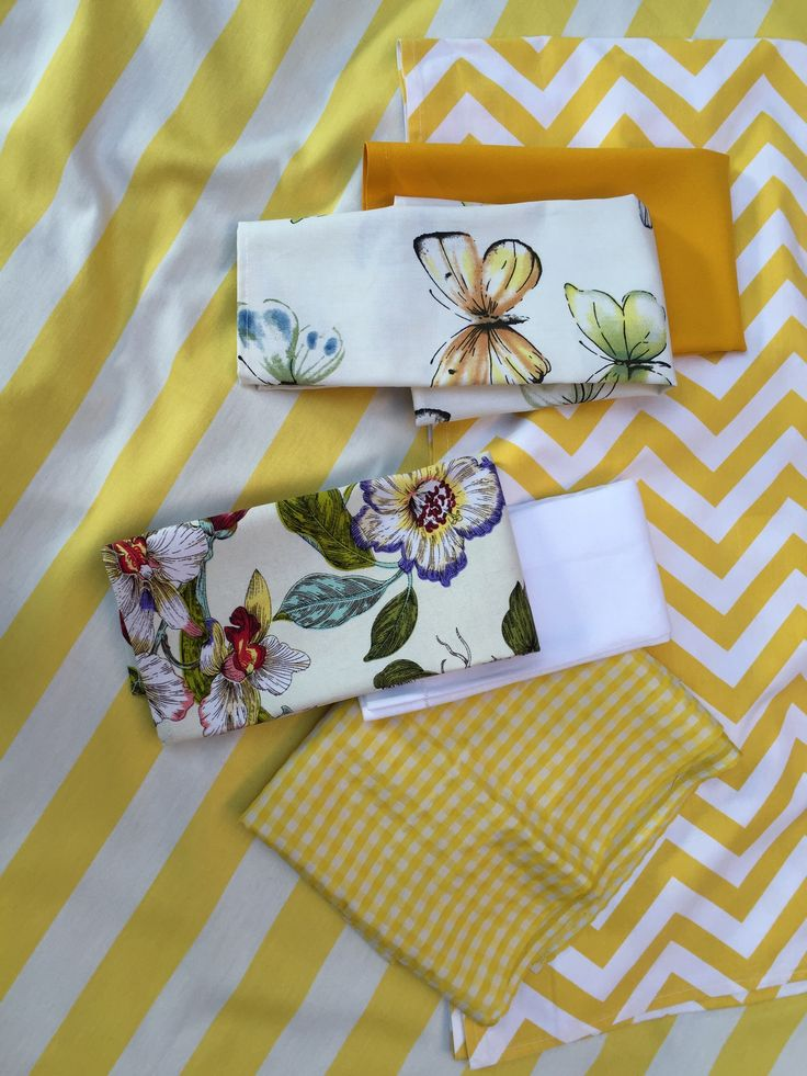 Love love love this mix of yellows - checks, chevron, stripes, plain, and botanicals...they look amazing together...