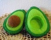 Felt Food Avocado set eco friendly childrens pretend play food for toy kitchen