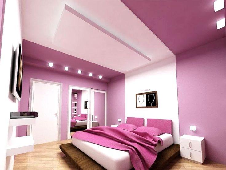 schlafzimmer gestalten in lila Schlafzimmer farben