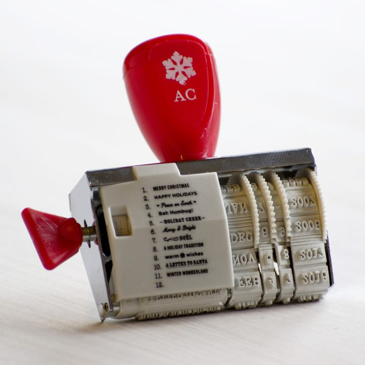 Sello fechador con frases de Navidad. Mango rojo. from Oh! Naif
