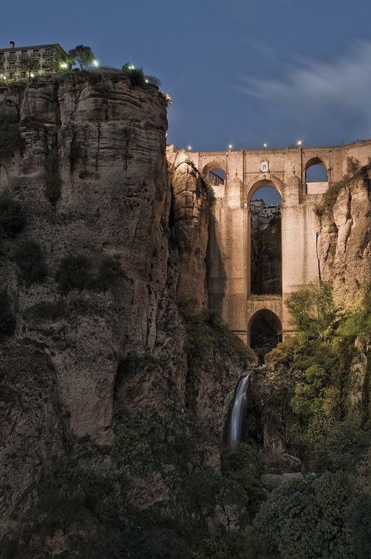 Highest Stone Bridge, Spain | Real WoWz...It's in Ronda, Spain. They were bunjee jumping off it when i was there.