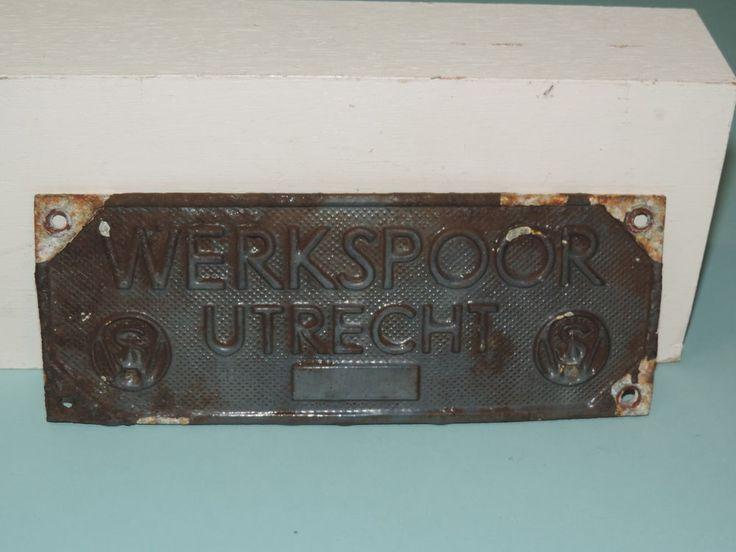 WERKSPOOR UTRECHT DUTCH company name plate #Werkspoor