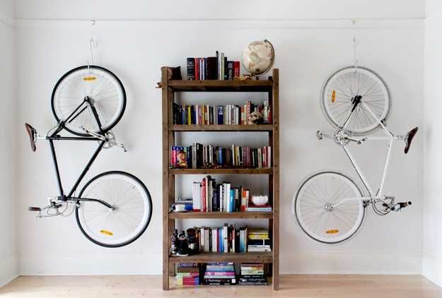 Decorative Ways to Store Bikes Indoor Adding Unusual Accents to Interior Design