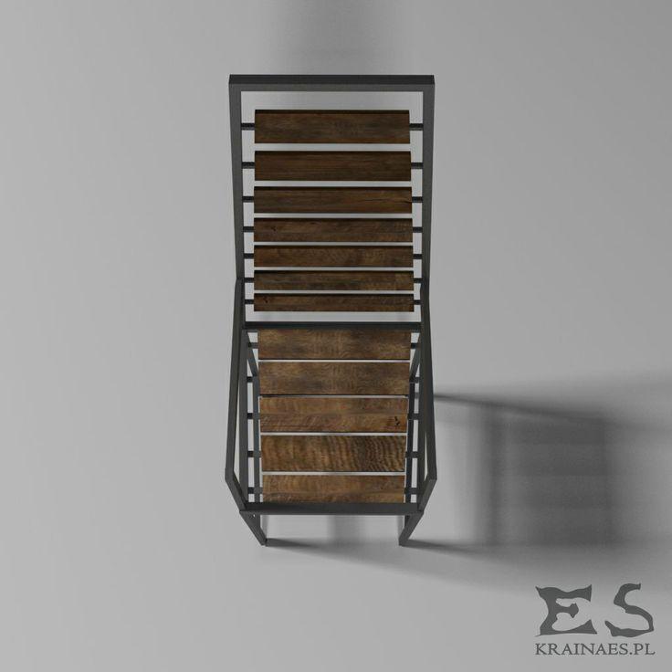 Chair, wooden, iron, krzesło, drewno, metal, Kraina ES