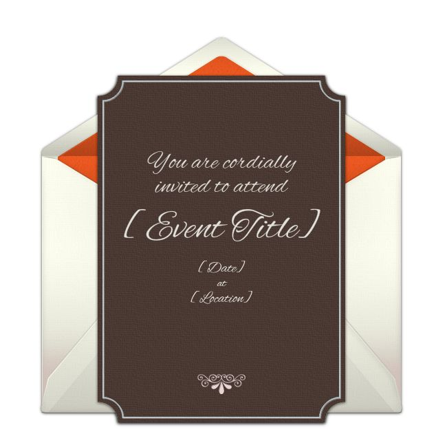 Customizable Indented Corners online invitations. Easy to personalize and send for a party. #punchbowl