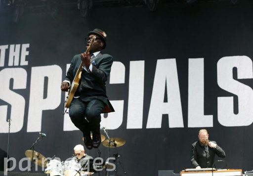 Lynval Golding of The Specials on the Main Stage, at the Isle of Wight Festival in Seaclose Park, Newport, Isle of Wight.