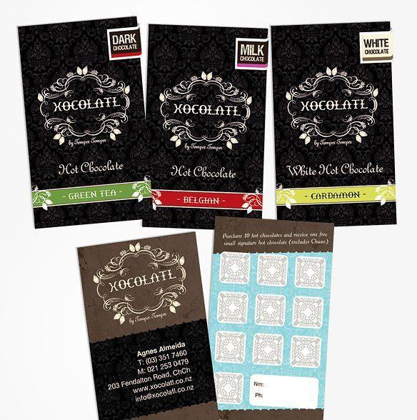 Yummy chocolate labels for Xocolatl #packagingdesign #designinspiration #design #graphicdesign
