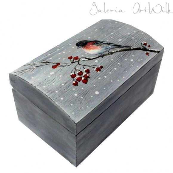Hand painted wooden box by ArtWilk