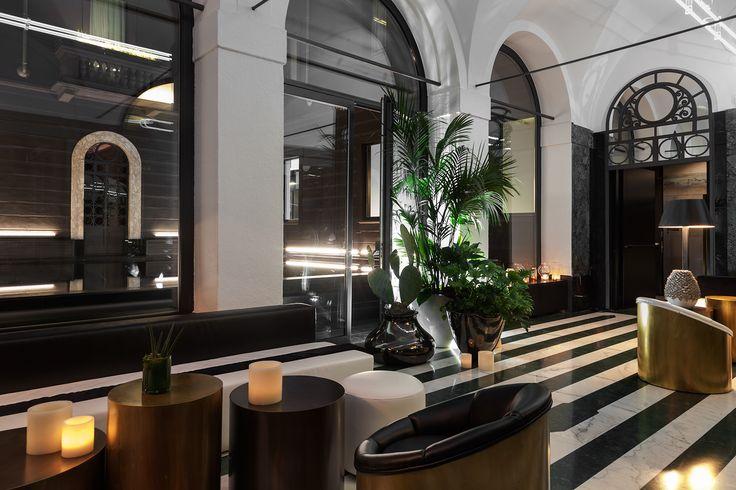 Lobby atmosphere at Senato Hotel Milano
