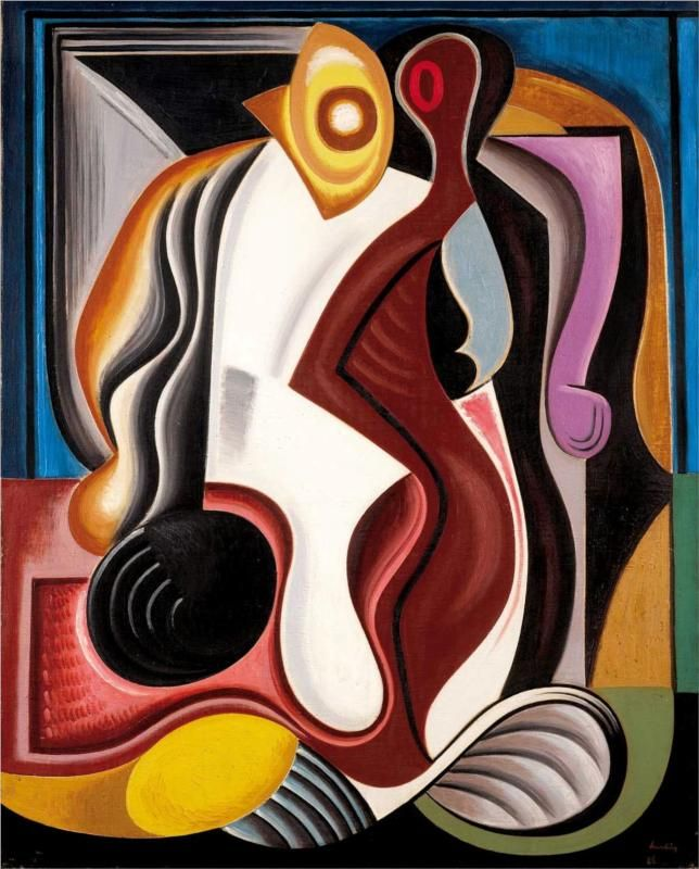 Auguste Herbin (French, 1882-1960)  Abstraction  1928