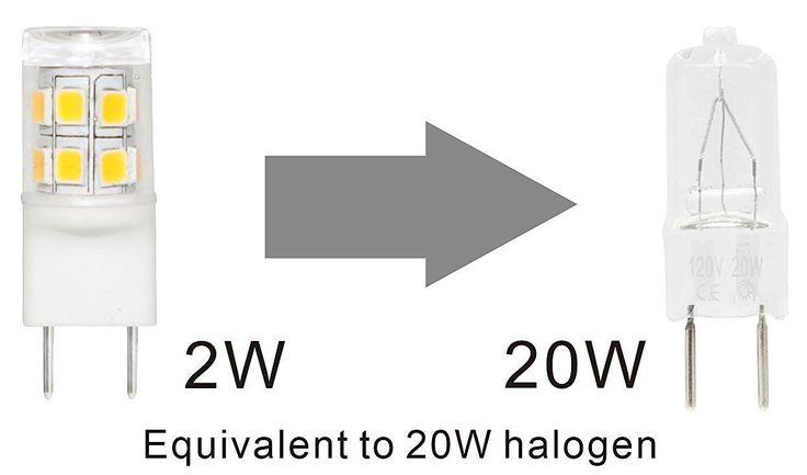 Bonlux LED G8 Light Bulb 2 Watts Warm White T4 G8 Base Bi Pin Xenon JCD  Type LED 20W Halogen Replacement Bulb For Under Counter Kitchen Lighting,  ...