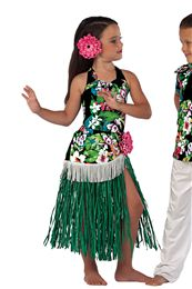 Novelty Dance Costumes | Dansco | Dance Fashion 2014 2015 Pinterest Keywords:  Hula Skirt Hawaiian Dance | Costume Name: Hula Girl 15571