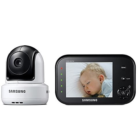 Slim and compact, with high resolution color display, the Samsung SafeVIEW Video Baby Camera and Monitor will provide you assurance of seeing what your little one is up to. Pure digital signal offers interference-free video up to 900 feet.