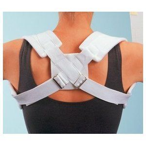 """PROCARE CLAVICLE SPLINT Medium, 30""""-36"""", EA by MedPlus. $14.59. Clavicle Splint, Medium, 30""""-36""""Adjustable prong buckles ensure correct fit and prevent slippage. Stockinette covered felt shoulder straps. Washable. Ideal for clavicular fractures and postural problems. Sizes based on chest measurement taken at bottom of sternum."""