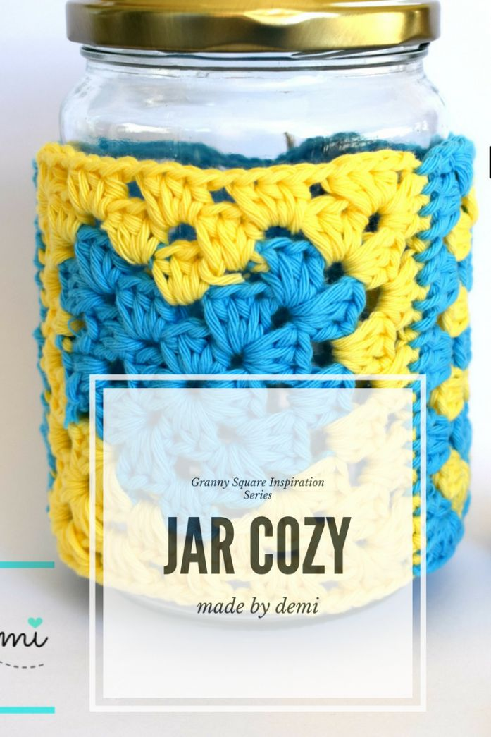 GRANNY SQUARE INSPIRATION SERIES | JAR COZY | made by demi